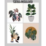 Aesthetic Art Plant Lover Collage Wall Kit 2pcs Poster Card Coated Sticker Wall Collage Decoration Shopee Philippines