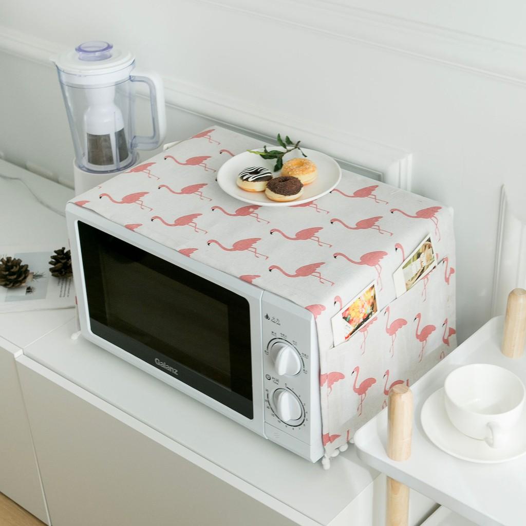 pink ins wind microwave oven cover dustproof anti oil hood