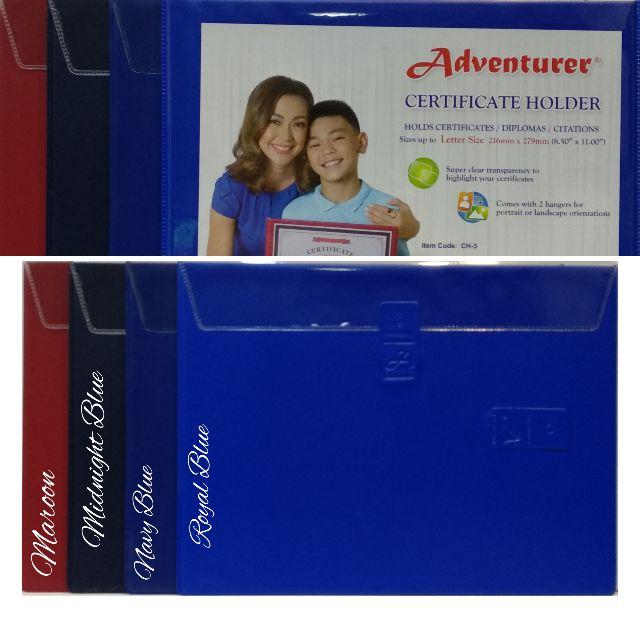 Adventurer Certificate Holder Diploma Holder Letter Size