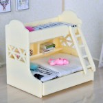 1 12 Dollhouse Miniature Furniture Bunk Bed Double Bunk Bedroom Accessory 1 Shopee Philippines