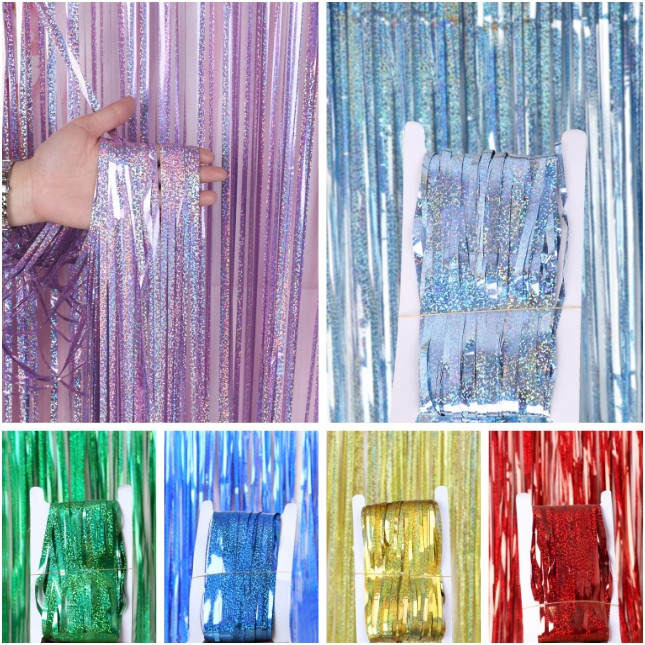 party backdrop curtains glitter gold tinsel fringe foil curtain birthday wedding