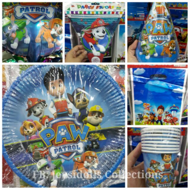 Paw Patrol Theme Party Needs And Giveaways On Hand Shopee Philippines