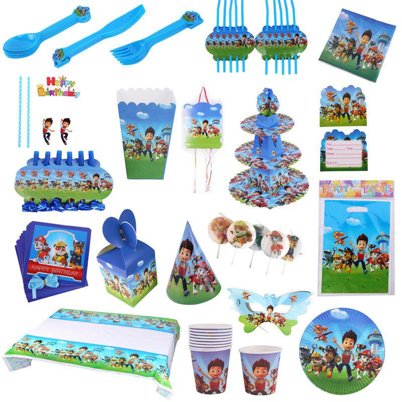 Paw Patrol Theme Party Decoration Supplies For Kids Birthday Party Shopee Philippines