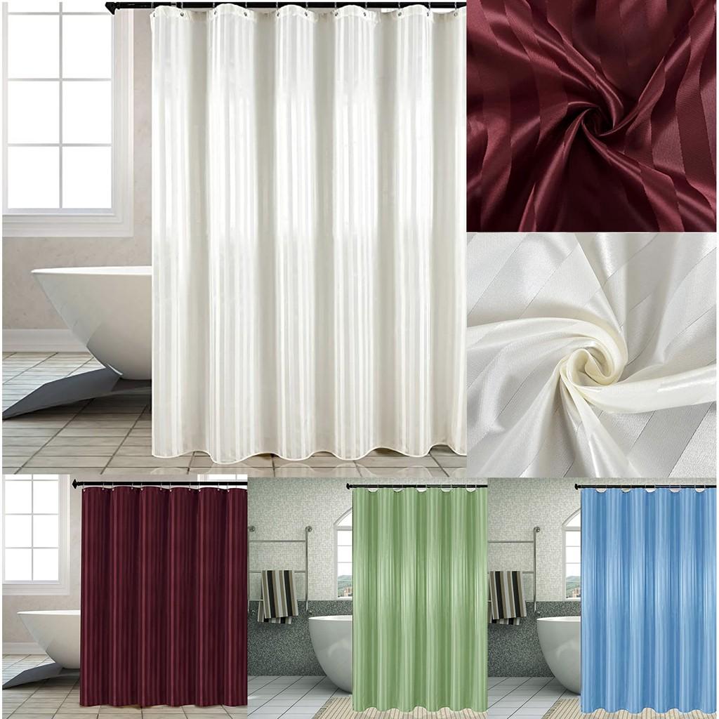elegant shower curtain high quality water repellent damsk stripes bathroom fabric set 33