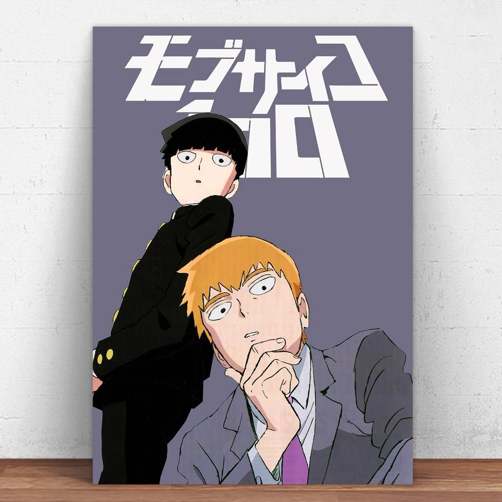 mob psycho 100 anime metal tin sign decorative metal plate anime poster home decor wall decor wall art