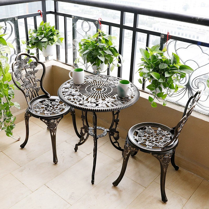 maynos outdoor furniture cast aluminum furniture patio furniture dining table and 2 chairs