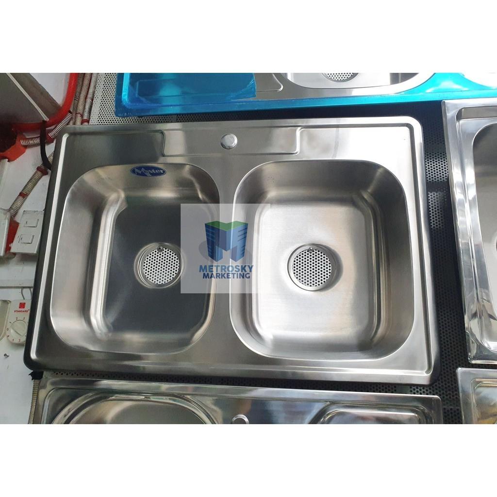 master sink dual kitchen sink 22x33 inches