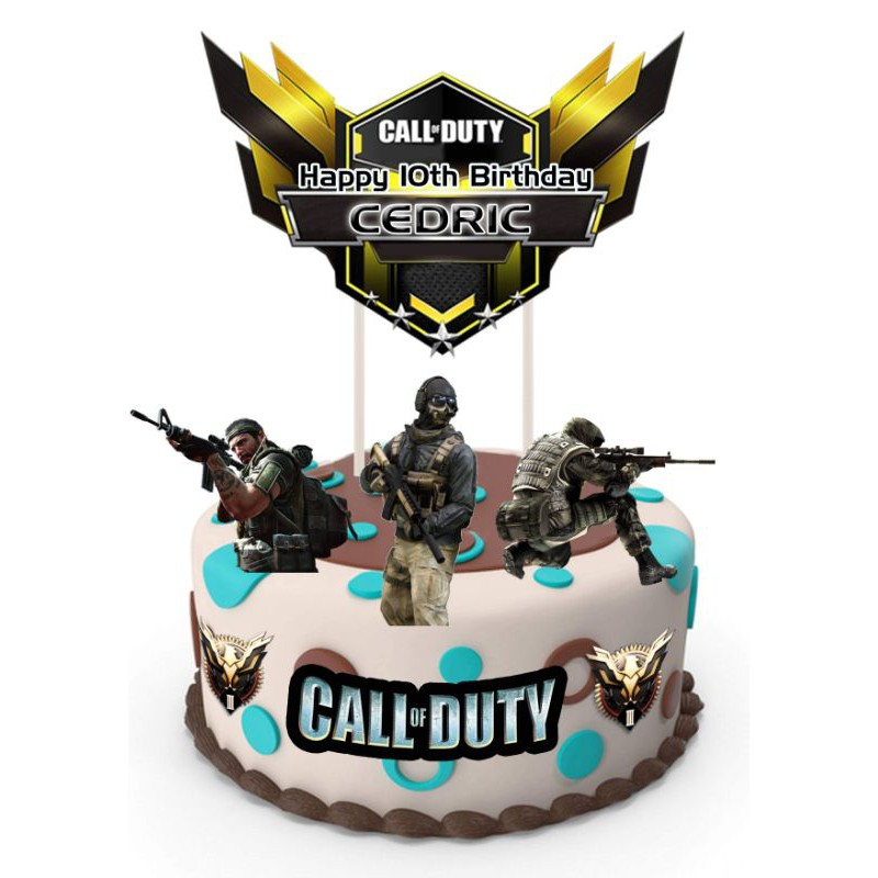 Call Of Duty Theme Cake Topper Shopee Philippines