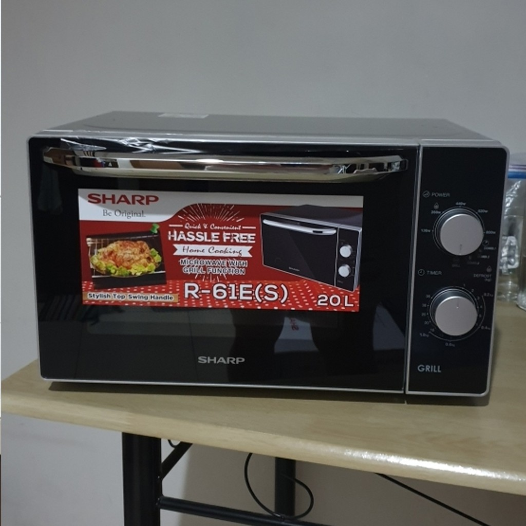 sharp microwave oven with grill r 61e s 20 liters