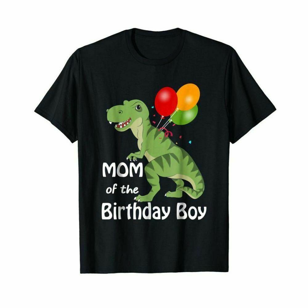 Dinosaur Mom Mothers Day Tee Mom Of The Birthday Boy Black T Shirt Men Gift Shopee Philippines