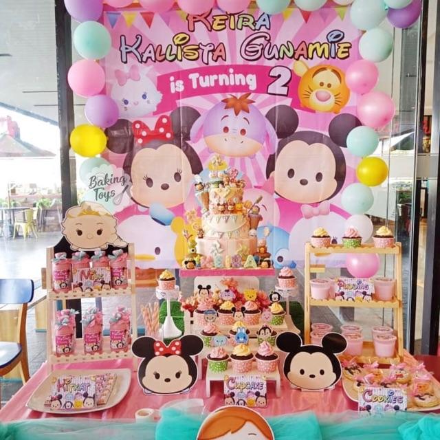 Birthday Display Birthday Label Backdrop Birthday Party Tsum Tsum Decoration Package Shopee Philippines