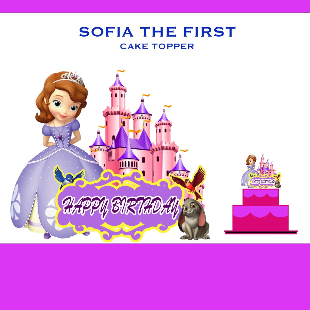 Sofia The First Cake Topper 6 X 8 Inches Shopee Philippines