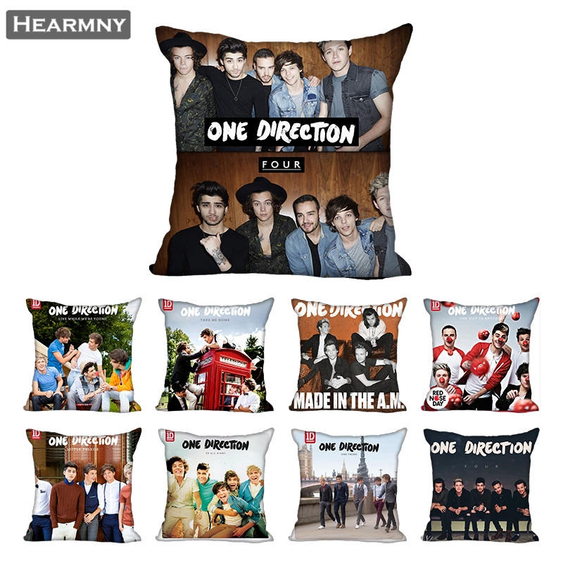 2020 one direction pillow case for home decorative pillows cover invisible zippered throw pillowcases 40x40 45x45cm