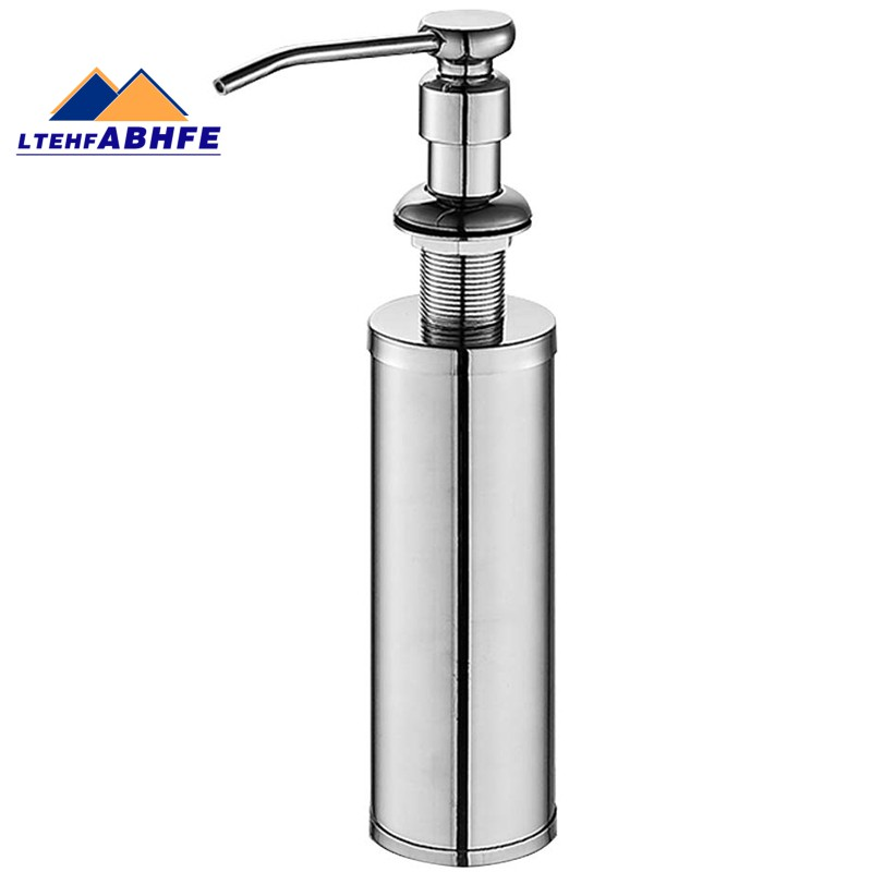kitchen sink dispenser built hand soap dispenser pump in sus304 stainless steel chrome finish with high capacity metal b