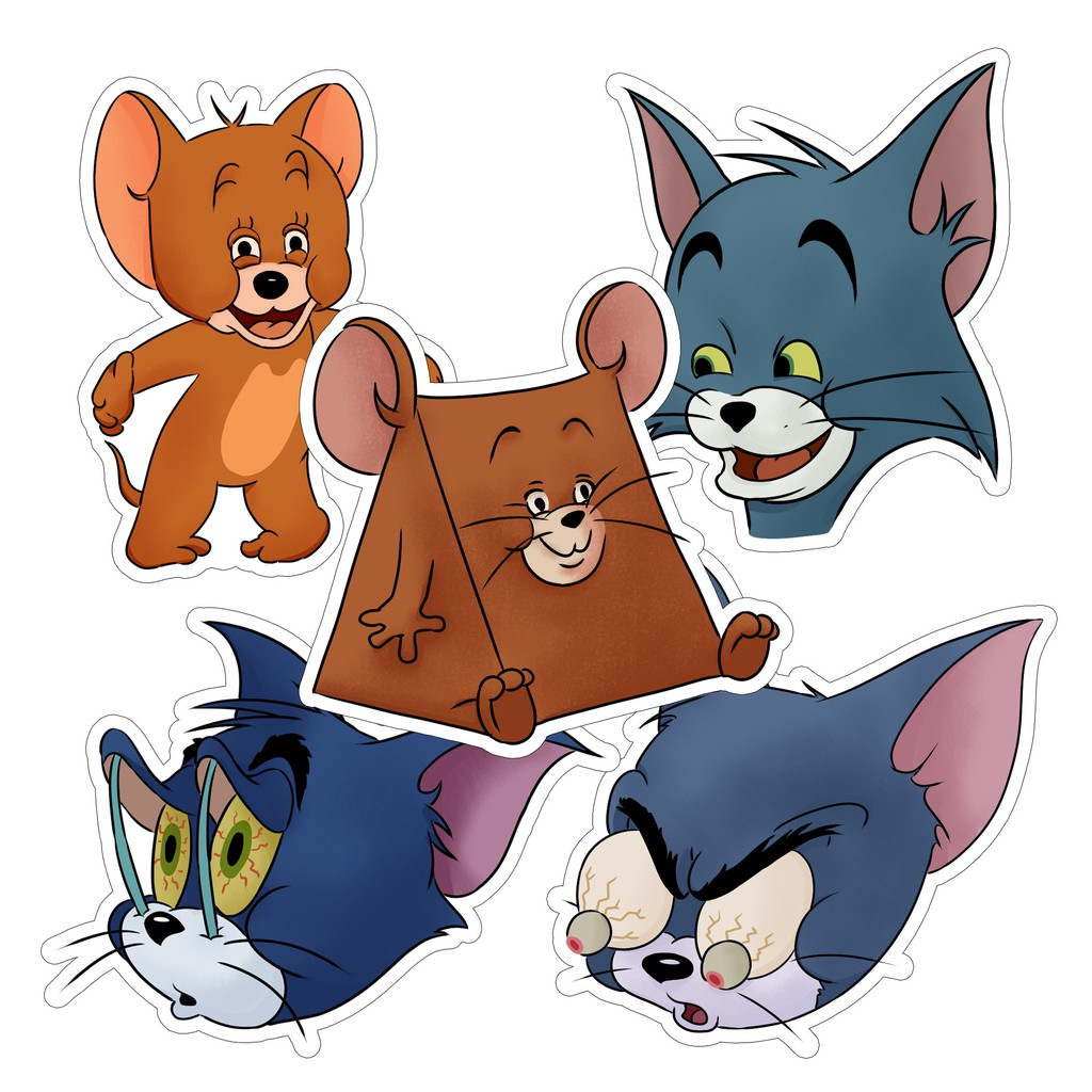Meme Stickers Tom Jerry Cartoon Laptop And Luggage Sticker Shopee Philippines