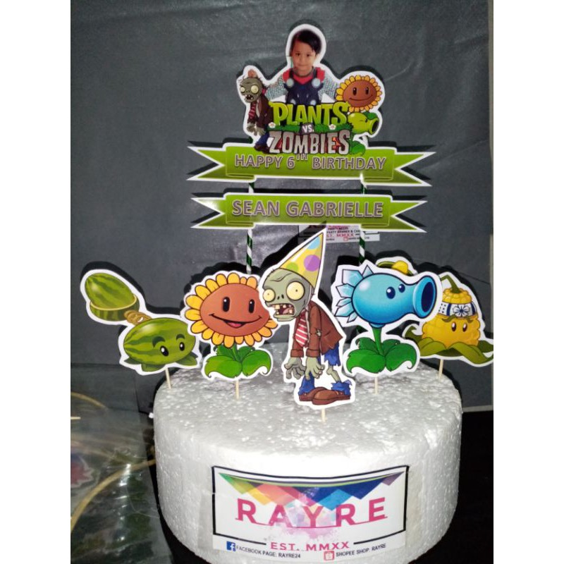 Plants Vs Zombie Personalized Cake Topper Shopee Philippines