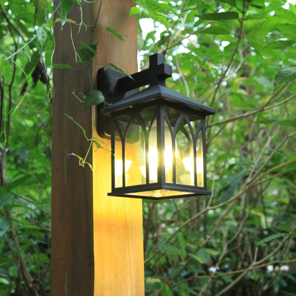 outdoor wall light house front gate waterproof eaxterior wall lamp simplicity cottage lamp garden lights balcony light hedge lamp fence gate light