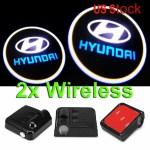 2 X Led Car Door Led Welcome Laser Projector Logo Light Fit Hyundai Ghost Shadow Car Parts External Lights Indicators