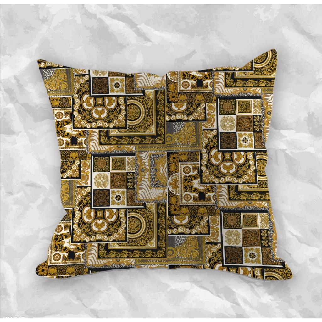 versace decorative zippered pillow case creative pillowcases sofa pillow case car cushion home decor printed pillowcases