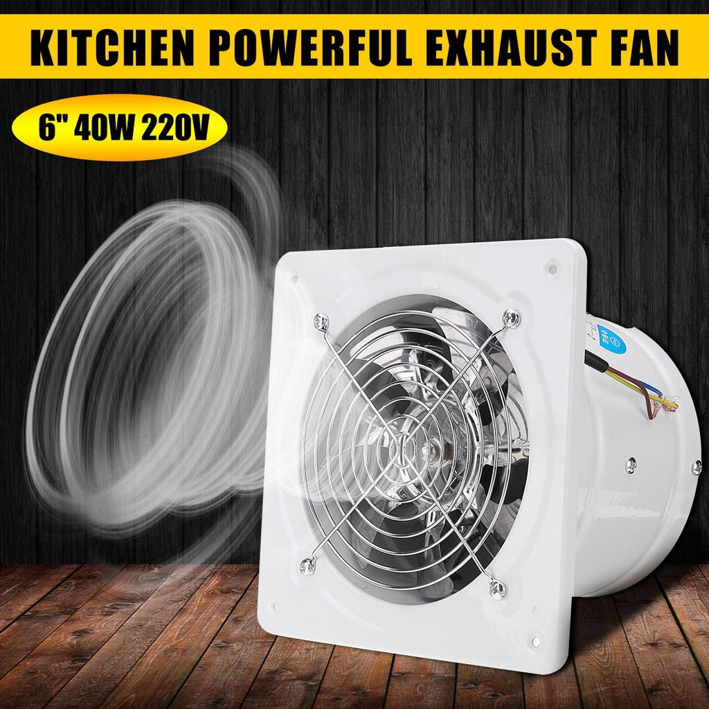 6 inch 220v 40w vent exhaust fan air ventilation fans wall window for home toilet bathroom kitchen