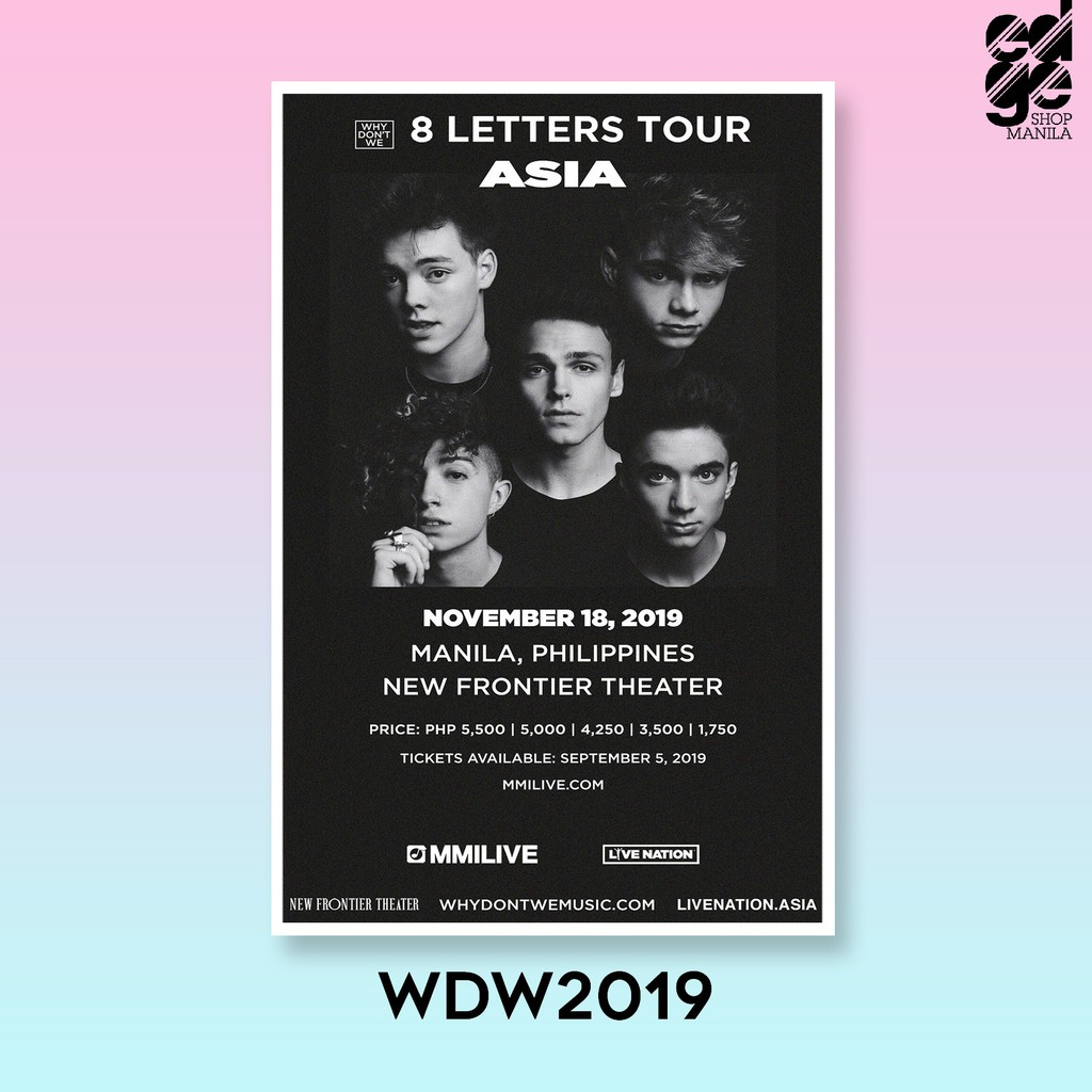 why don t we in manila concert posters 305mm x 470mm