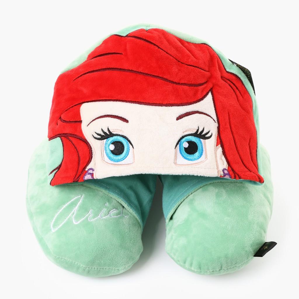 disney princess ariel neck pillow with hood