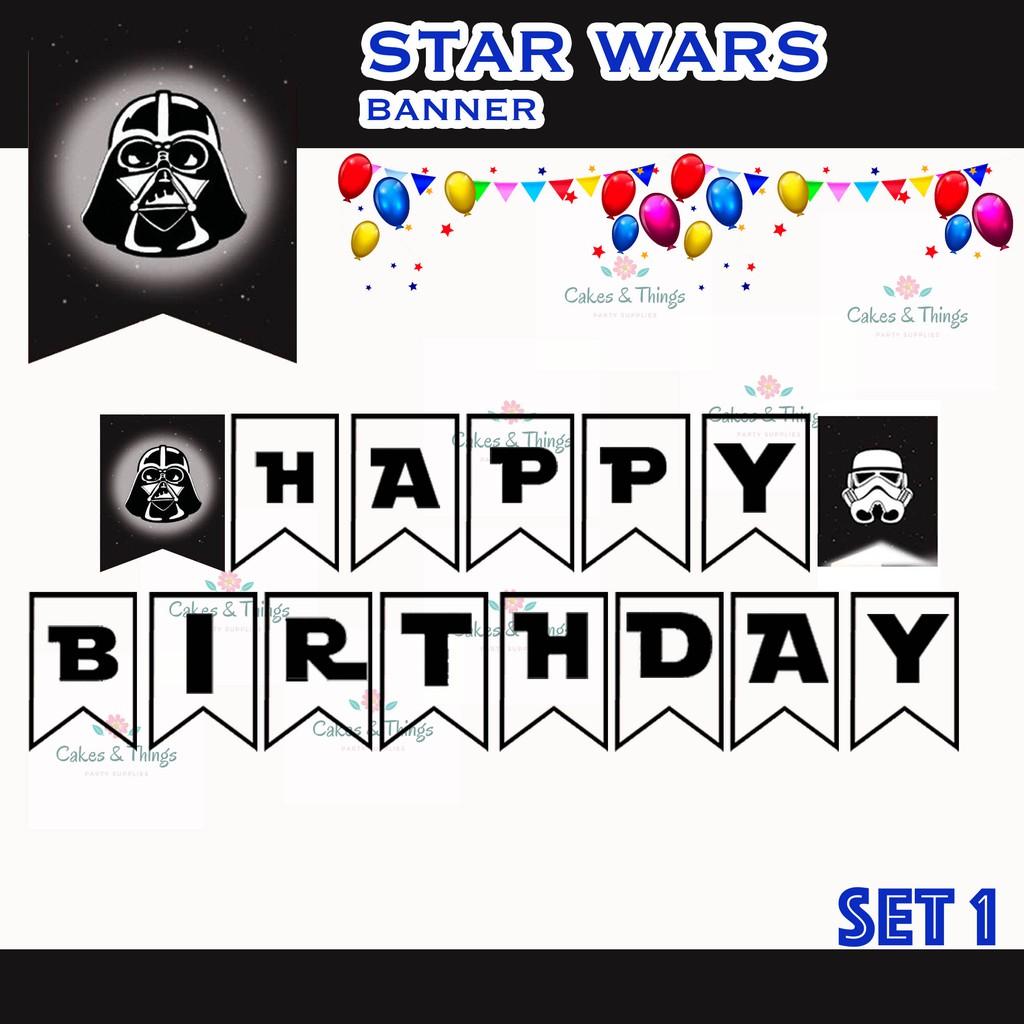 Star Wars Birthday Christening Banner Shopee Philippines