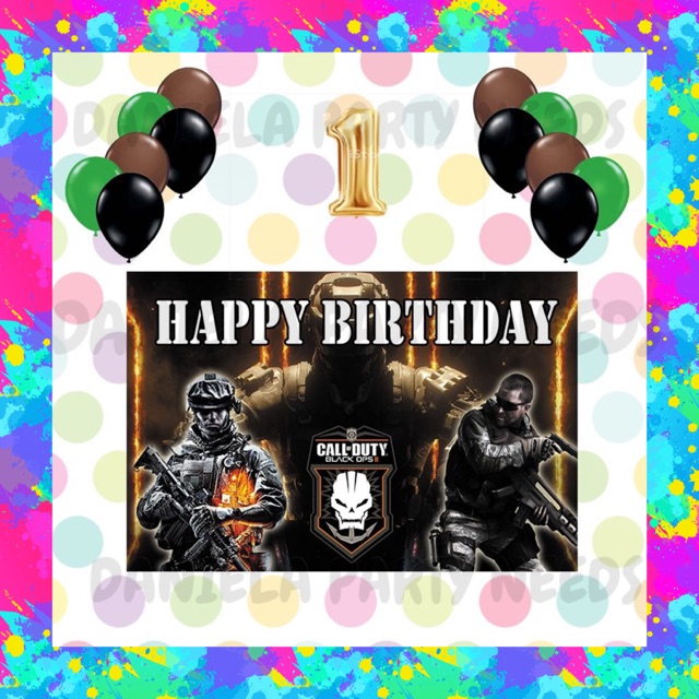 Call Of Duty Theme Party Decoration Set A Shopee Philippines