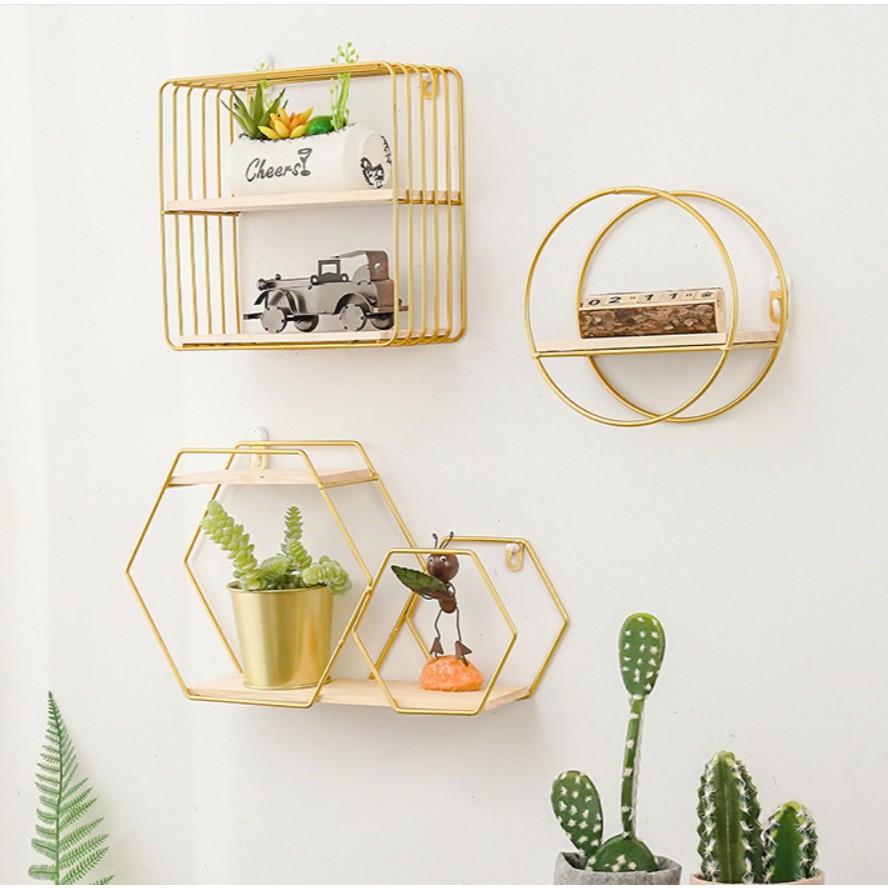metal wall rack house shape 2 layer wall sundries holder multi use wooden metal wall shelf storage b