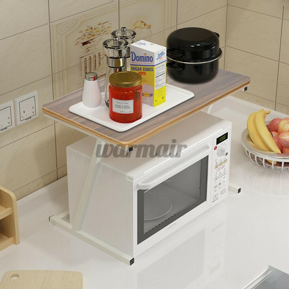 microwave oven cart bakers rack metal 3 tier kitchen storage shelves stand black
