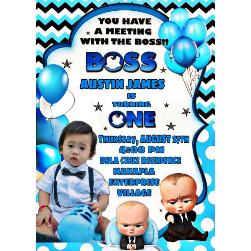 boss baby invitation template free online