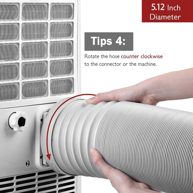 i1 portable air conditioner exhaust hose replacement tube exhaust duct interface set hose 5 12 in diameter 79 in length