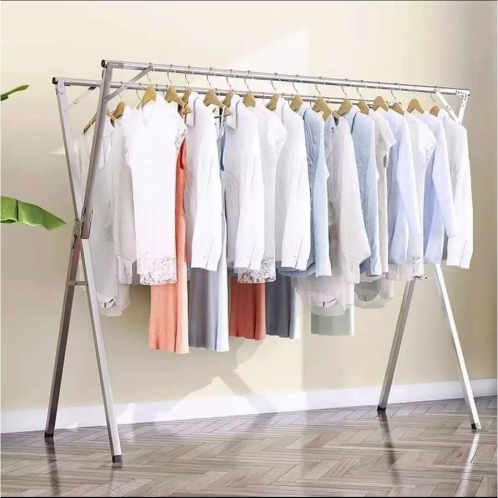 x shape clothes drying rack laundry rack stainless steel clothes hanger foldable drying rack 180cm