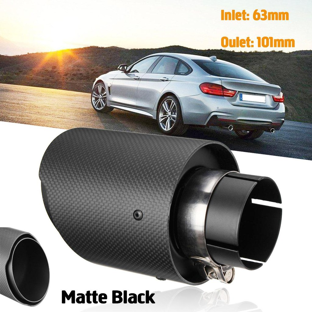 back in stock 2 5 inch to 4 inch black carbon akrapovic exhaust tips