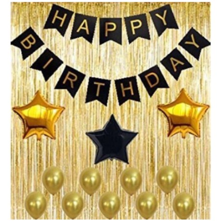 Black Gold Theme Birthday Party Set Black Gold Birthday Party Shopee Philippines