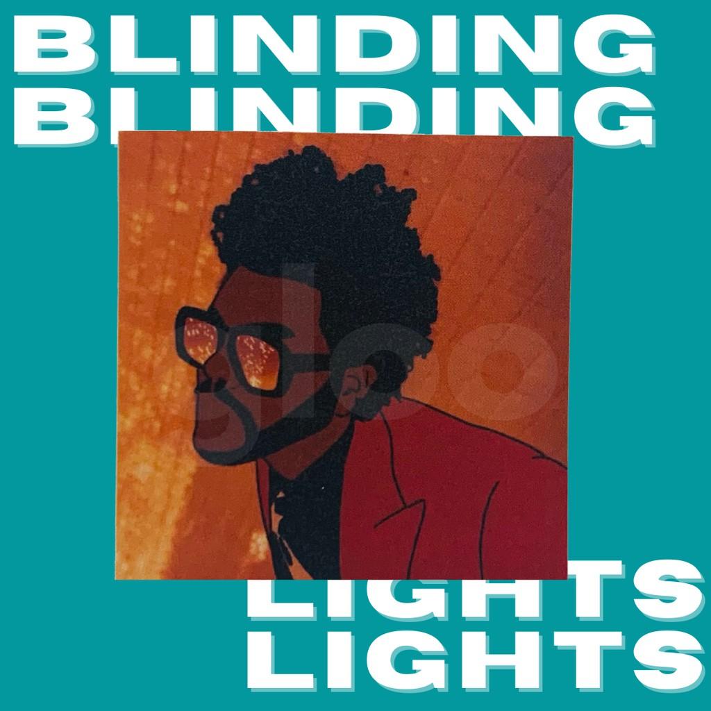 blinding lights the weeknd waterproof sticker
