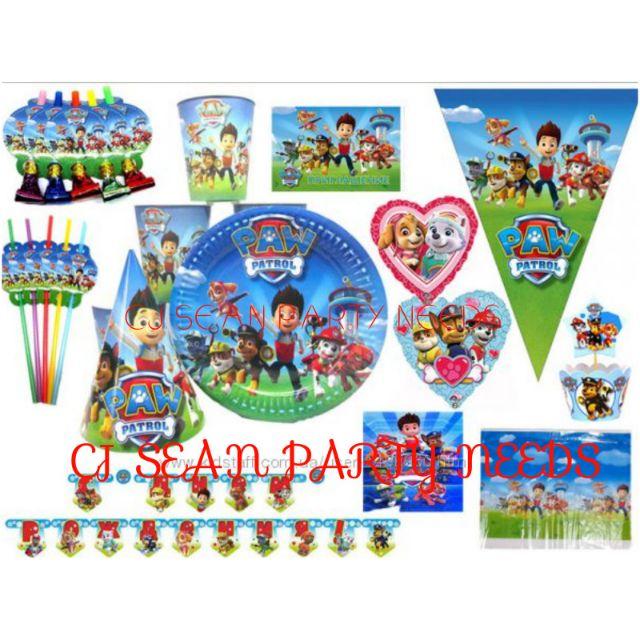 Paw Patrol Theme Birthday Party Needs Decorative Supplies Shopee Philippines