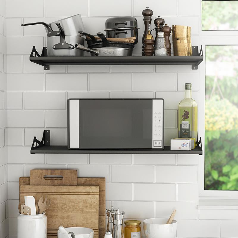 kitchen spice rack microwave oven shelf wall hanging wall