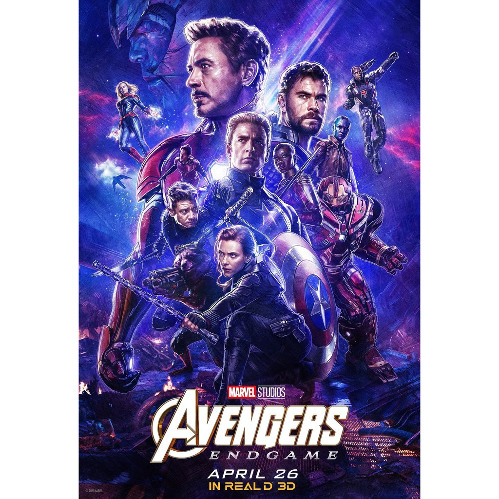 avengers end game 2019 movie poster 14x20