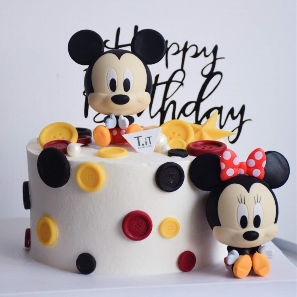 2 In 1 Cartoon Mickey Minnie Mouse Doll Cake Topper Decorations Model Action Figures Baby Birthday Party Kids Gifts Toys Supplies Shopee Philippines