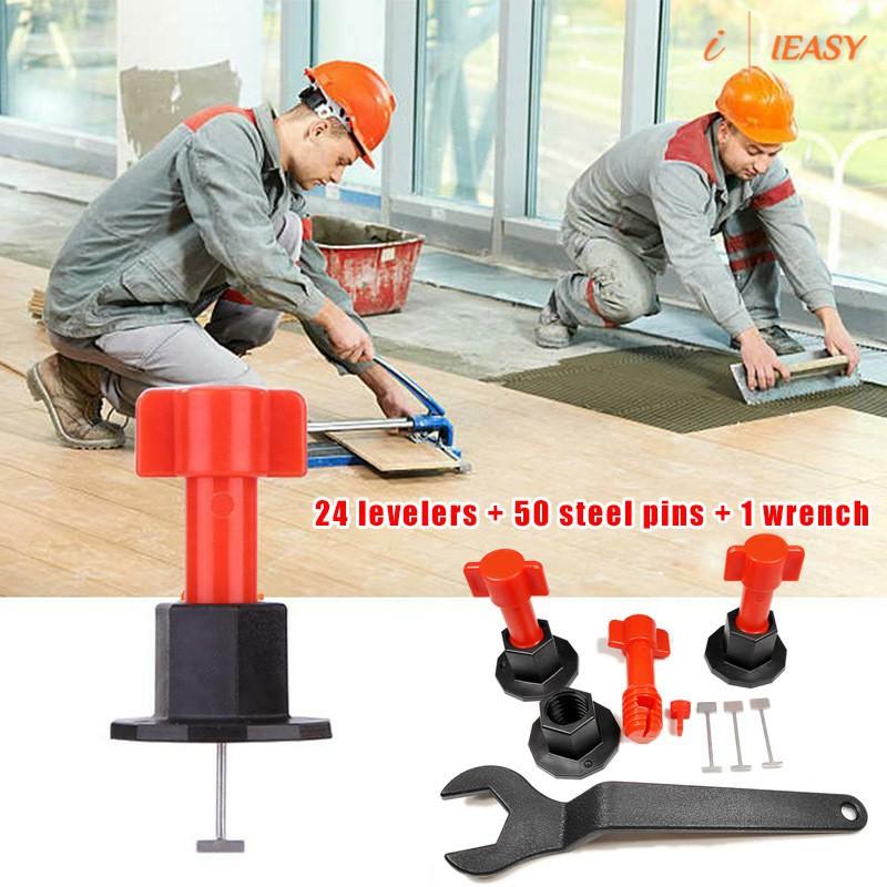 cod ready stock 75 pcs reusable anti lippage tile leveling system locator tool ceramic floor wall floor tiles home decor floor tiles tool