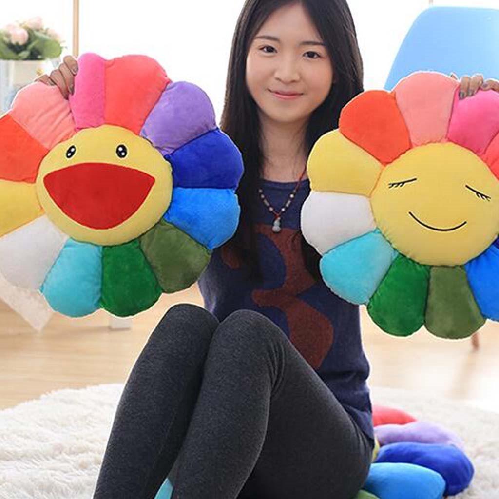 takashi murakami pillow colorful sunflower bolster toy sofa cushion