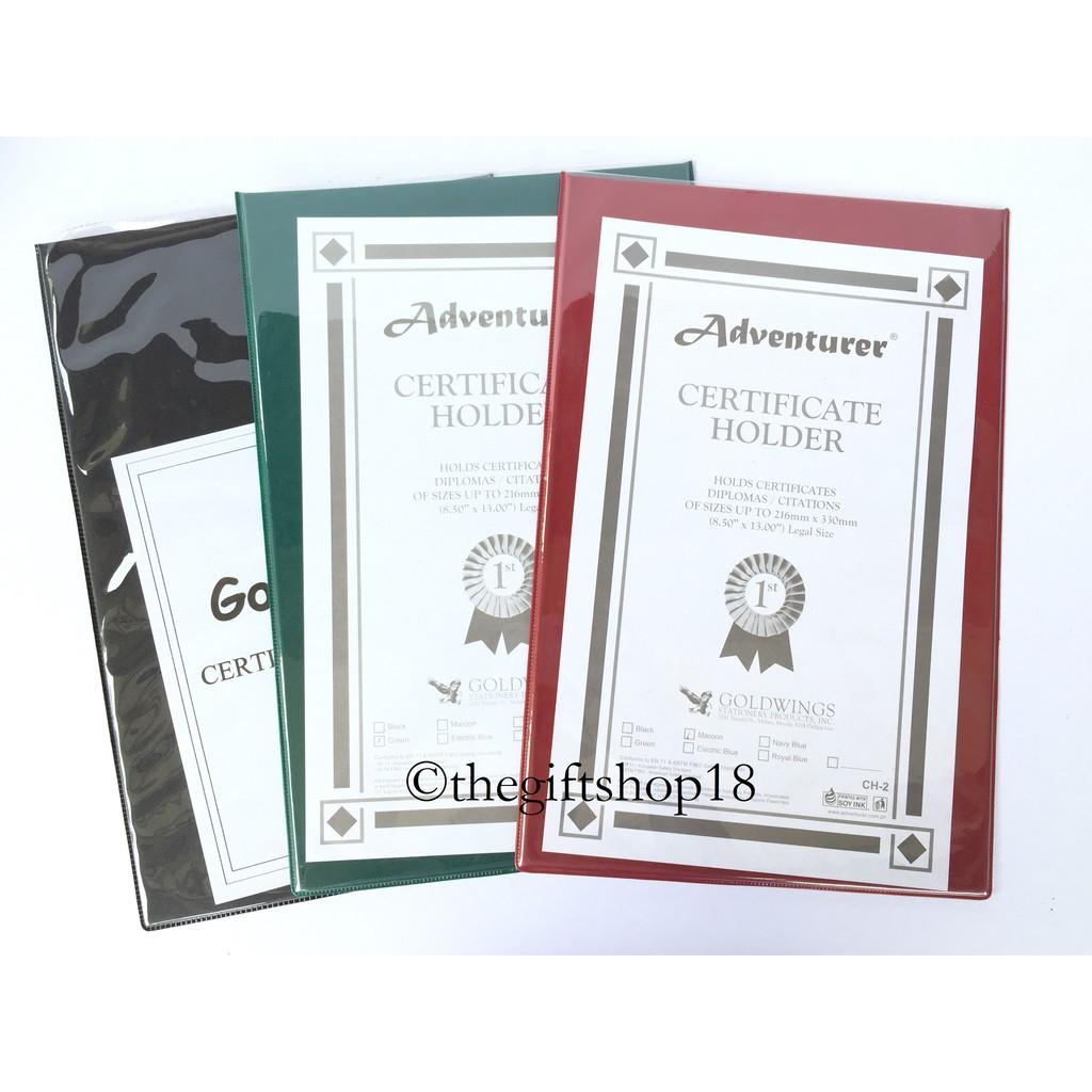 Certificate Holder Short A4 Long