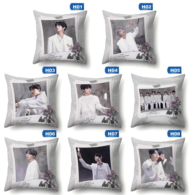 kpop bts map of the soul 7 cool 3d pillow case throw pillows pillowcase covers cushion cover 45cm 45cm pillow slip no inner