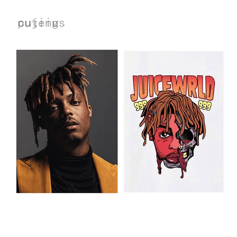 juice wrld poster rapper music star painting posters and prints wall art picture