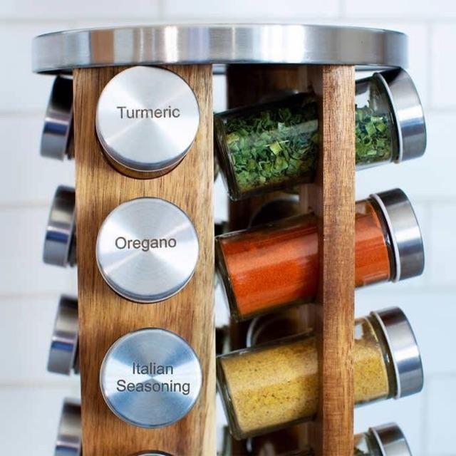orii 20 jar revolving spice rack