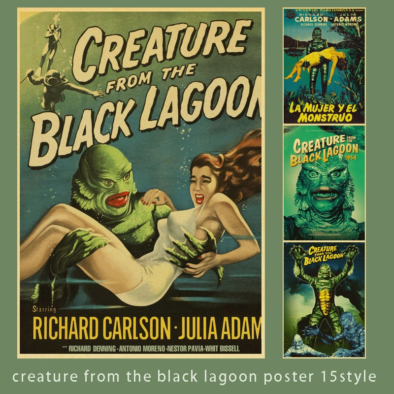 creature from the black lagoon retro movie poster home furnishing decoration
