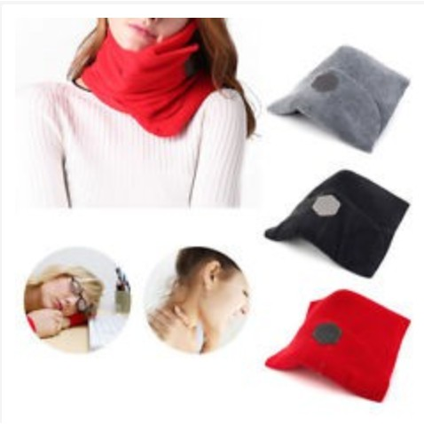 neck support travel pillows for airplanes neck pillow scarf for unisex sleep washable portable cod