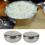 Korean Stainless Steel Serving Bowl For Rice Salad Soup Milk Fruit With Lid Shopee Philippines