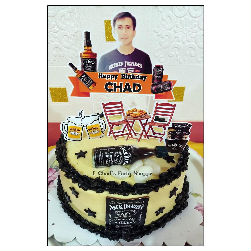 Jack Daniels Theme Cake Topper Set Shopee Philippines
